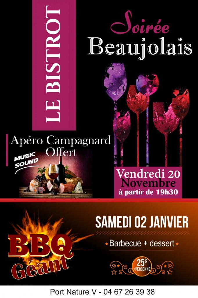 Venez fêter le Beaujolais Nouveau au Bistrot !