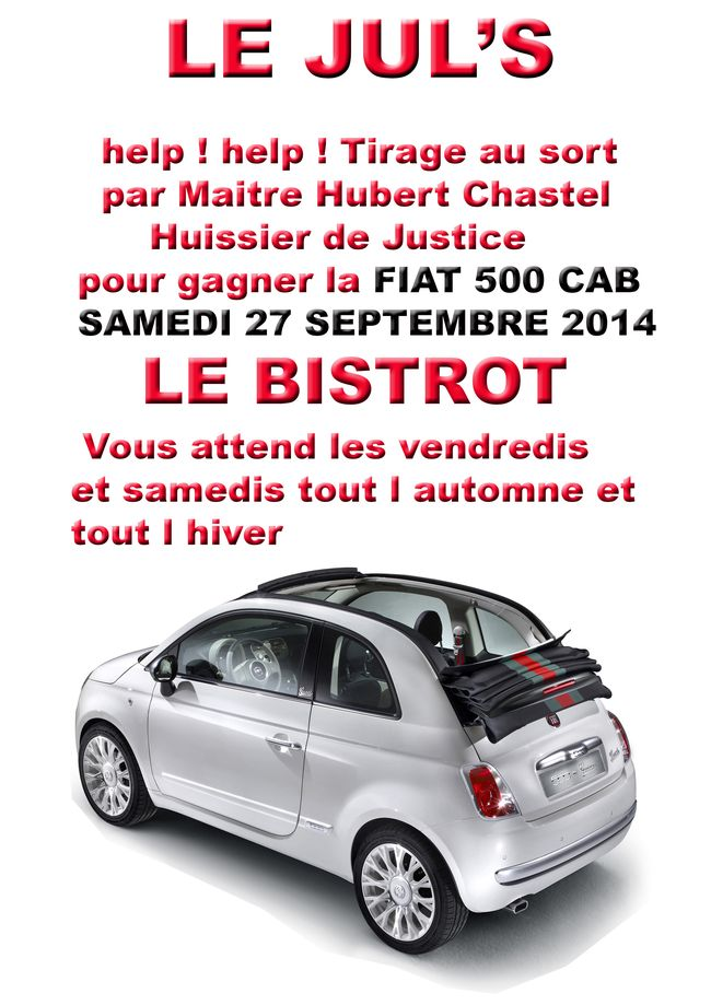 gagnez une fiat 500 cab le jul 39 s. Black Bedroom Furniture Sets. Home Design Ideas
